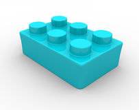 Lego bricks. Plastic toy brick - This is a 3d render illustration Stock Photography