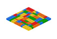 Lego bricks. In square shape. Vector available Royalty Free Stock Photos