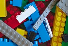 Lego bricks close up Royalty Free Stock Photos