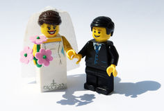 Lego bride and groom Stock Photography