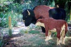 Lego Buffalos Stockfotografie