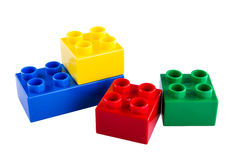 Lego Building Blocks. Isolated on white background royalty free stock photos