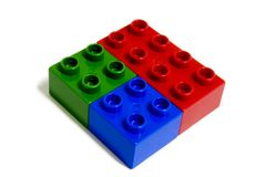 Lego Building Blocks RGB Diamond Stock Image