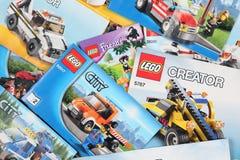 LEGO Building Instructions Stockfotos