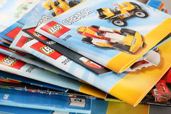 LEGO Building Instructions Lizenzfreies Stockbild