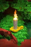 Lego candle royalty free stock photography