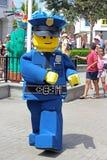 Lego Character - polis Fotografering för Bildbyråer