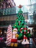 Lego Christmas Tree @ Pitt Street Mall Sydney Australia Royaltyfri Bild