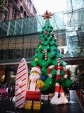 Lego Christmas Tree @ Pitt Street Mall Sydney Australia royalty-vrije stock afbeelding