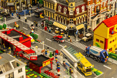 LEGO city royalty free stock images