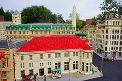 Lego city. Legoland Florida - city center and street stock photography