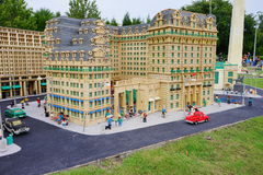 Lego city. Legoland Florida - city center and street stock image