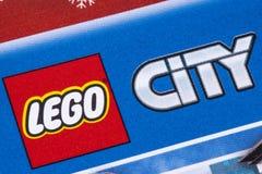 Lego City Logo dans un catalogue photos libres de droits