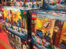 Lego City-speelgoed royalty-vrije stock afbeeldingen