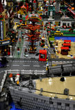 Lego city. The whole city made from toy lego blocks Exhibition of toys Belgrade royalty free stock photos