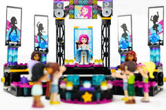 Lego concert with female singer and musicians performing on stage to an audience. TRIM, IRELAND - SEPTEMBER 8, 2016: Lego concert with female singer and Royalty Free Stock Photo