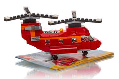 LEGO Creator - two rotor helicopter Royalty Free Stock Photos