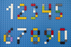 Lego custom numbers Royalty Free Stock Photography