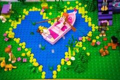 Lego del día de tarjetas del día de San Valentín imagen de archivo