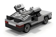 LEGO DeLorean Back to the Future. The DeLorean car from the movie Back to the Future, made of a few LEGO bricks Royalty Free Stock Image