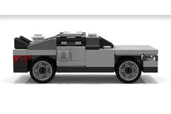 LEGO DeLorean Back to the Future. The DeLorean car from the movie Back to the Future, made of a few LEGO bricks Stock Image