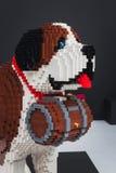 Lego dog on display at Quattrozampeinfiera in Milan, Italy Stock Photos