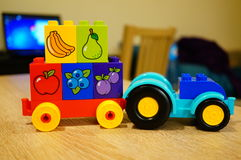 Lego Duplo tractor Stock Photo