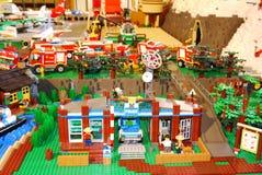 Lego ekspozycja Francja obrazy royalty free