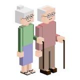 Lego elderly couple with walking stick Stock Photography