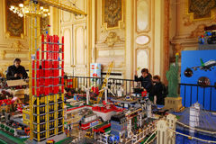 Lego Exposition City Hall France Royaltyfria Foton