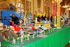 Lego Exposition France photo libre de droits