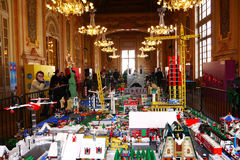 Lego Exposition. In a town hall in France Stock Images
