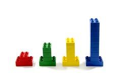 Lego färgrika block Royaltyfri Fotografi