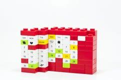 Lego för kalenderkvarter Arkivbild