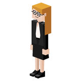 Lego female judge with glasses Royalty Free Stock Photography