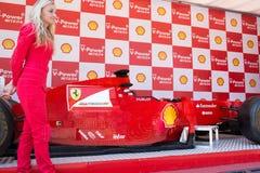 Lego Ferrari - Replica car. Royalty Free Stock Photo