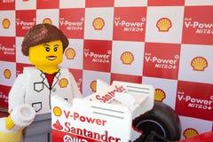 Lego Ferrari - replika samochód. Obraz Stock