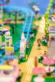 Lego Friend serie på Bangkok's Siam Paragon galleriaskärm Arkivbilder