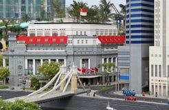 Lego Fullerton of Singapore at Legoland stock photography