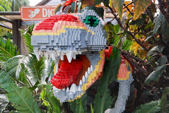 Lego Gebeeldhouwde Dinosaurus stock fotografie
