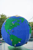 Lego globe (showing north america) Royalty Free Stock Photography