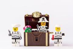 Lego gwiezdne wojny i pirata skarb Obrazy Stock