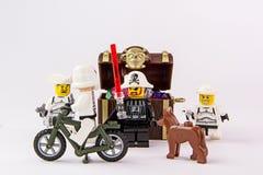 Lego gwiezdne wojny i pirata skarb Zdjęcia Stock