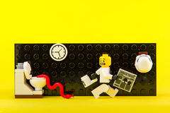 Lego gwiezdne wojny w toalecie Obrazy Stock
