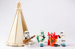 Lego gwiezdnych wojn obozuje wakacje Zdjęcia Royalty Free