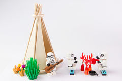 Lego gwiezdnych wojn obozuje wakacje Fotografia Royalty Free