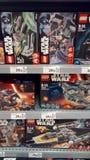 Lego gwiezdnych wojn zabawki Fotografia Royalty Free