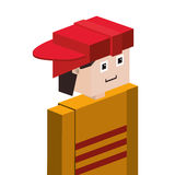 Lego half body firefighter with helmet. Illustration Royalty Free Stock Photo