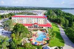 Lego hotel. Legoland Florida - city resort and hotel stock images