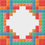 Lego icon. Abstract frame figure. Vector graphic Stock Photo